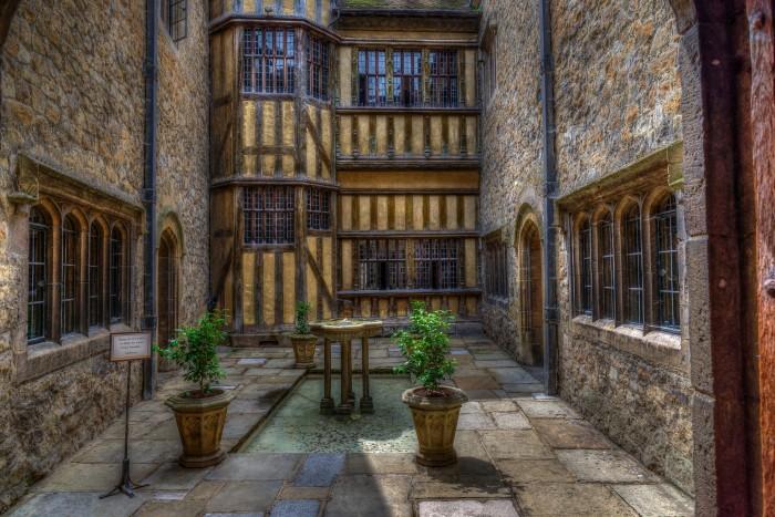 Inside Courtyard Of Leeds Castle Kent