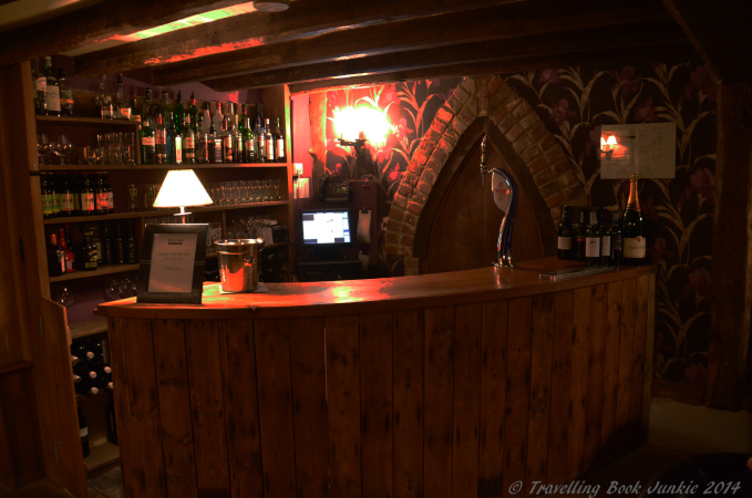 The relaxing bar area near our room, close to where the ghost of the military man has been seen. Elvey Farm,Kent