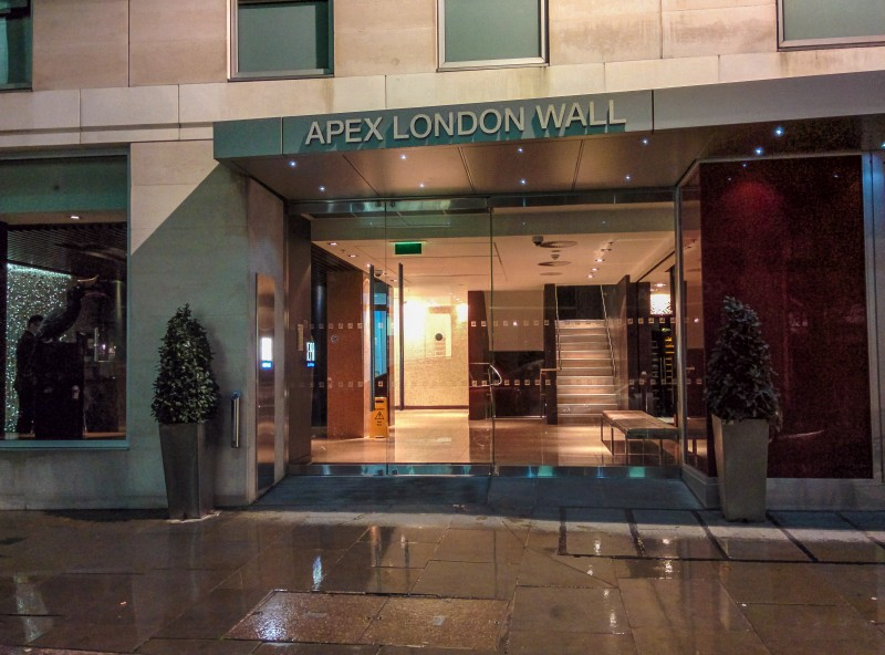 Want a quiet place to stay whilst in London?  Choose the Apex London Wall