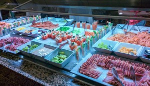 Salad options at the buffet restaurant in Riu Tequila mexico