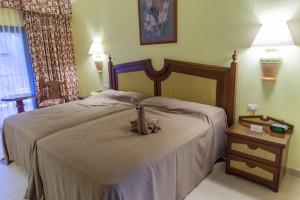 Bedroom at the Riu Tequila, Playacar, Riviera Maya, Mexico.