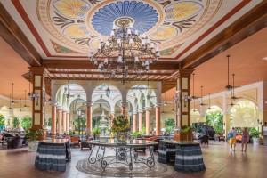 Lobby area of the Riu Tequila in Playacar, Riviera Maya, Mexico