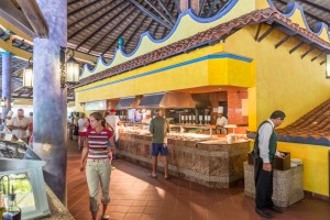 lunch time buffet at Riu Tequile Playacar,  Mexico