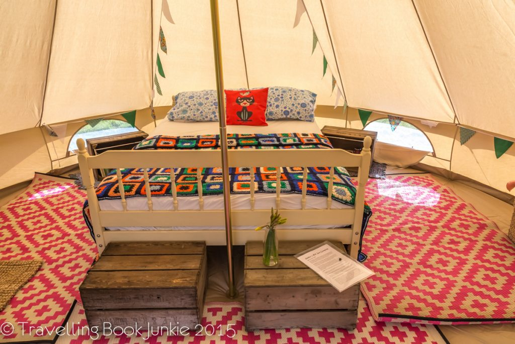 Ambers Bell Tent bed Norfolk Glamping