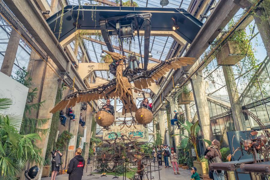 Flying Heron of Machines Des Ile Nantes France