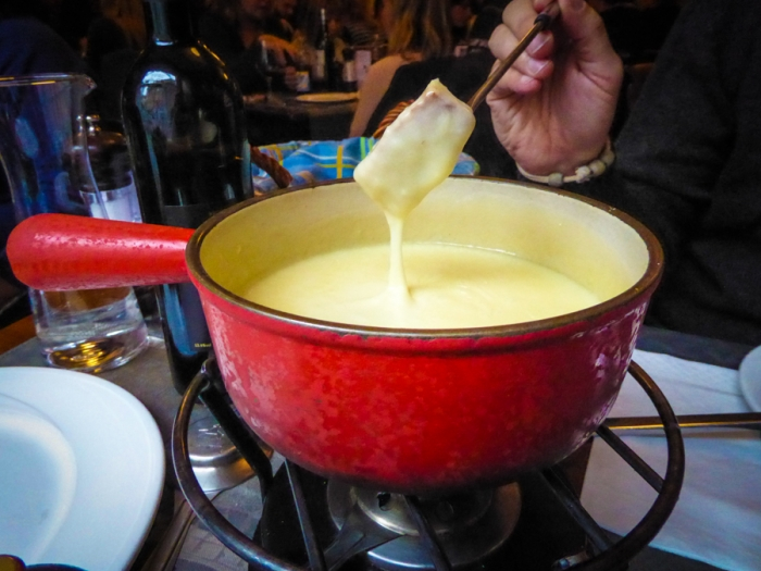 Cheese Fondue, Swiss Cheese, Restaurant, Lake Leman, Lake Geneva, Lausanne, Switzerland, Food