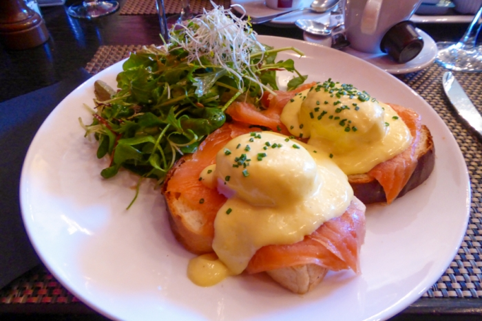 Brunch, Eggs Benedict, Lake Leman, Lake Geneva, Lausanne, Switzerland