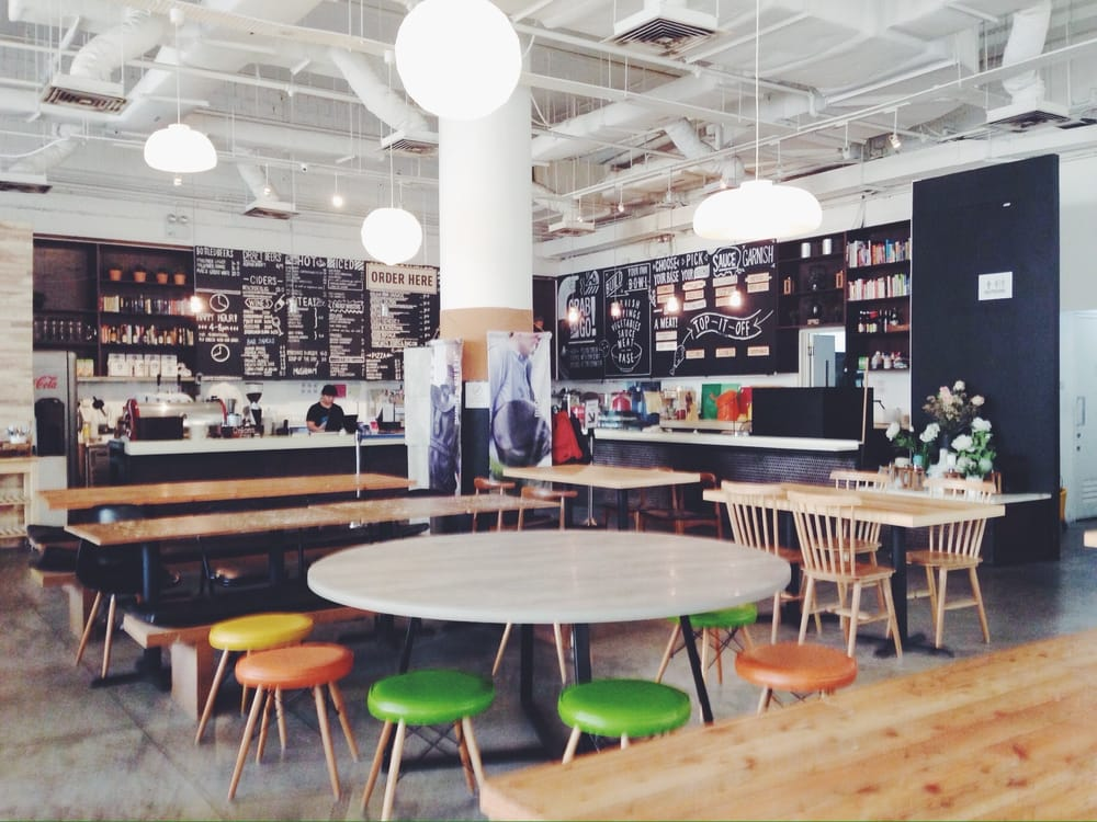 Lowercase in Singapore is both a socially cafe and a place to read and study.