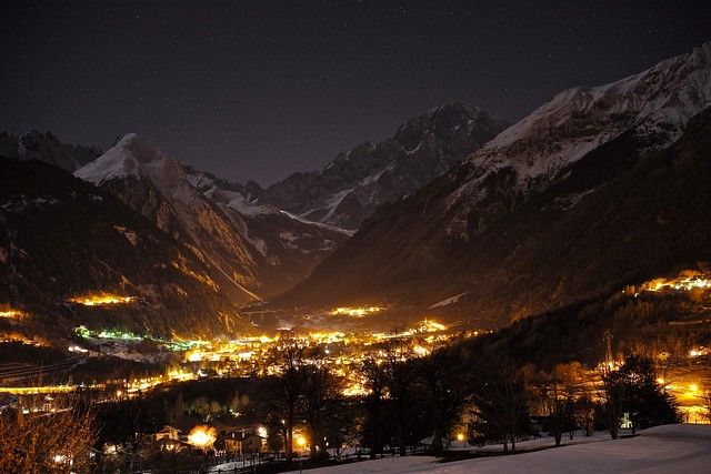 Mont Blanc at night