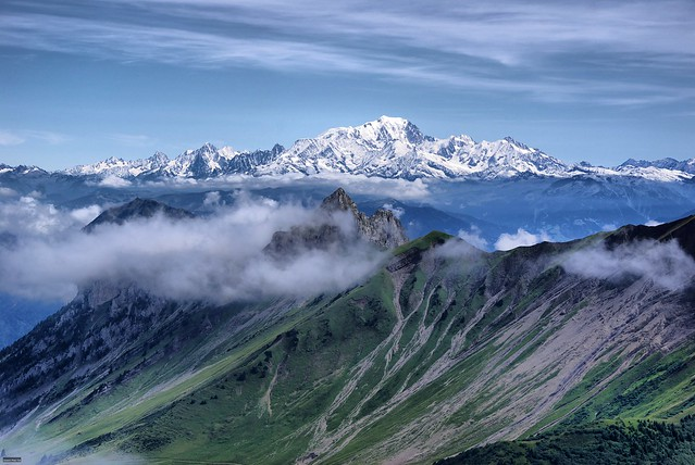 Weather can change quickly on Mont Blanc