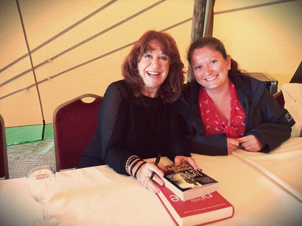 Meeting Lynda La Plante at the Harrogate Crime Writing Festival. The Queen of Crime Writing
