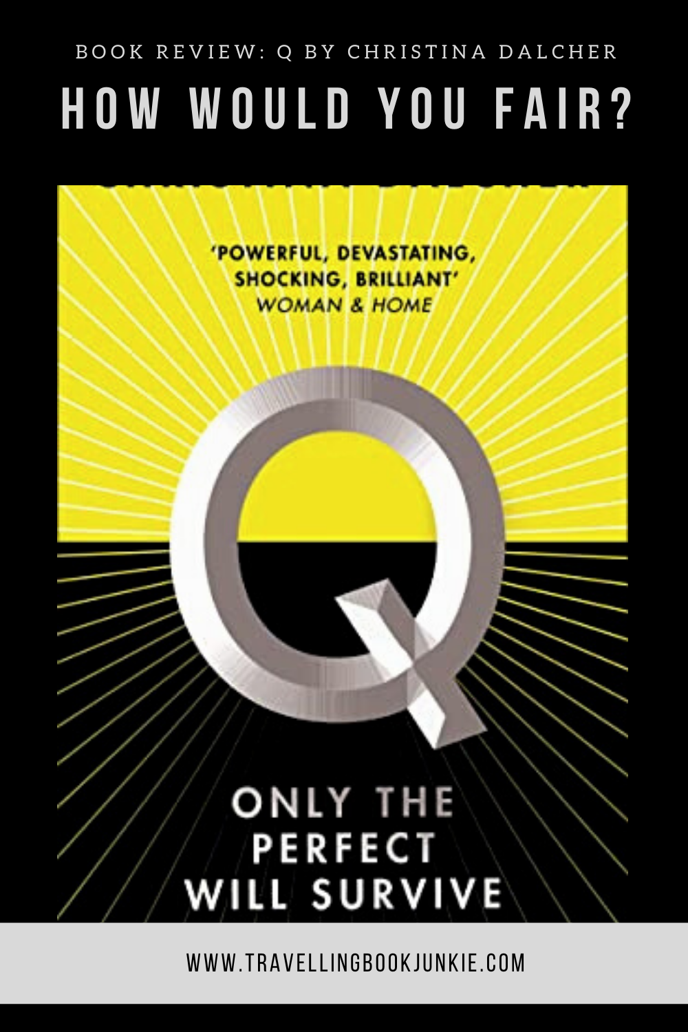 A full book review of Q by Christina Dalcher, a dystopian novel about how IQ will rule. See more via @tbookjunkie