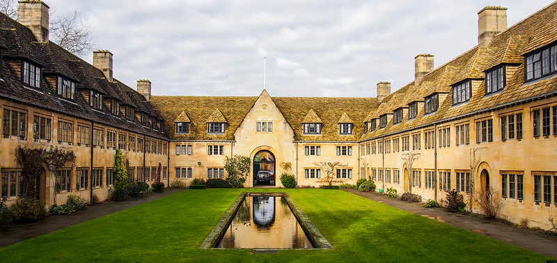 Nuffield College, Oxford, one of the main college buildings in the University city.