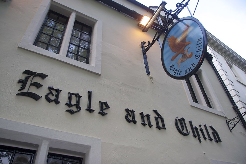 The Eagle and Child pub in Oxford known for its Inking meetings with J.R.R. Tolkien and C.S. Lewis