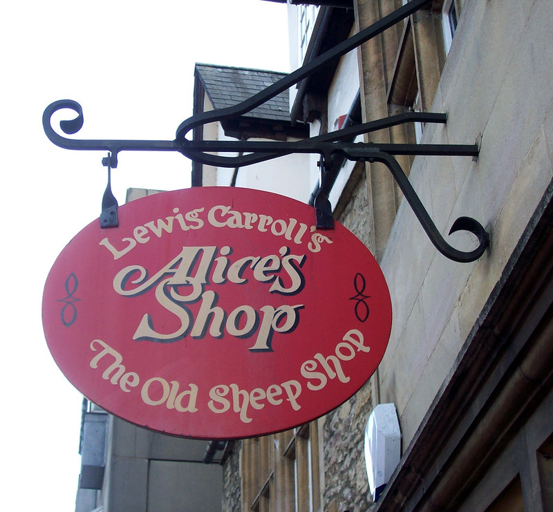 Alice in Wonderland's s hop in Oxford is the same shop where Alice Liddell use to buy her sweets from 150 years ago when she first met Lewis Carroll