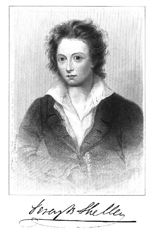 Percy Shelley, husband to Mary Shelley and Poet in own right.