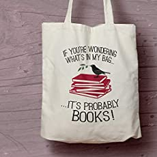 Bookish themed eco-friendly tote bag for all your books