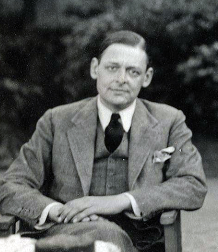 T.S. Eliot, writer and graduate of Oxford University