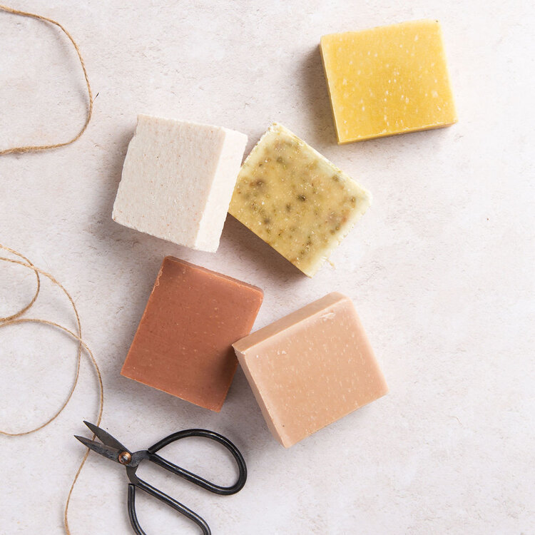 Selection of soaps for the eco-conscious bookworms