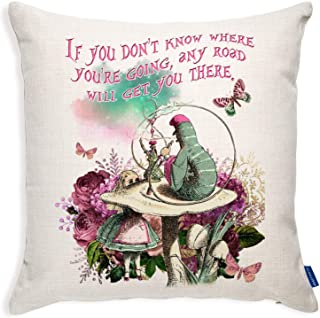 Book themed cushion from Alice in Wonderland