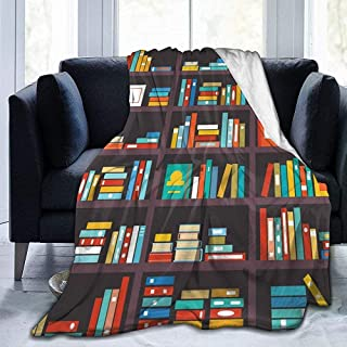 Book themed throw blanket for the bookworm in your life