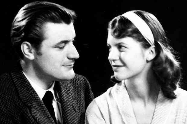 Sylvia Plath and her husband Ted Hughes, famous writers of Cambridge University