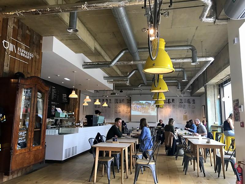 The Espresso Library Coffee Shop in Cambridge