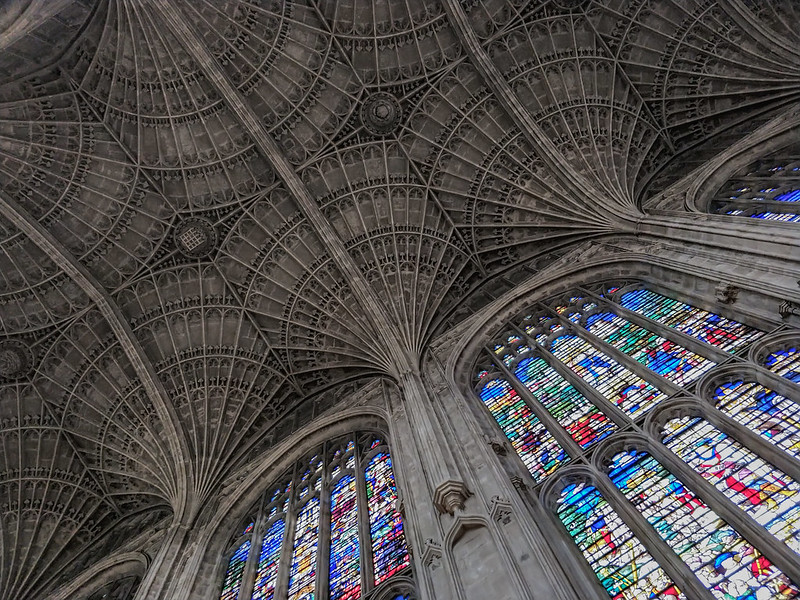 The inside of Kings College Chapel in Cambridge