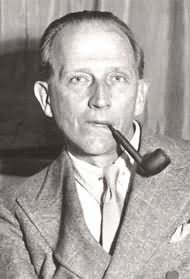 Portrait of A.A. Milne, author of Winnie the Pooh