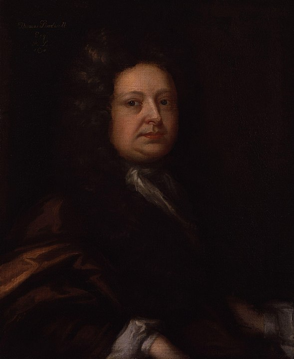 Poet and Playwright, Thomas Shadwell, famous writer who attended Cambridge