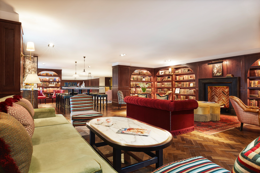 Library at Clayton Hotel in Cambridge