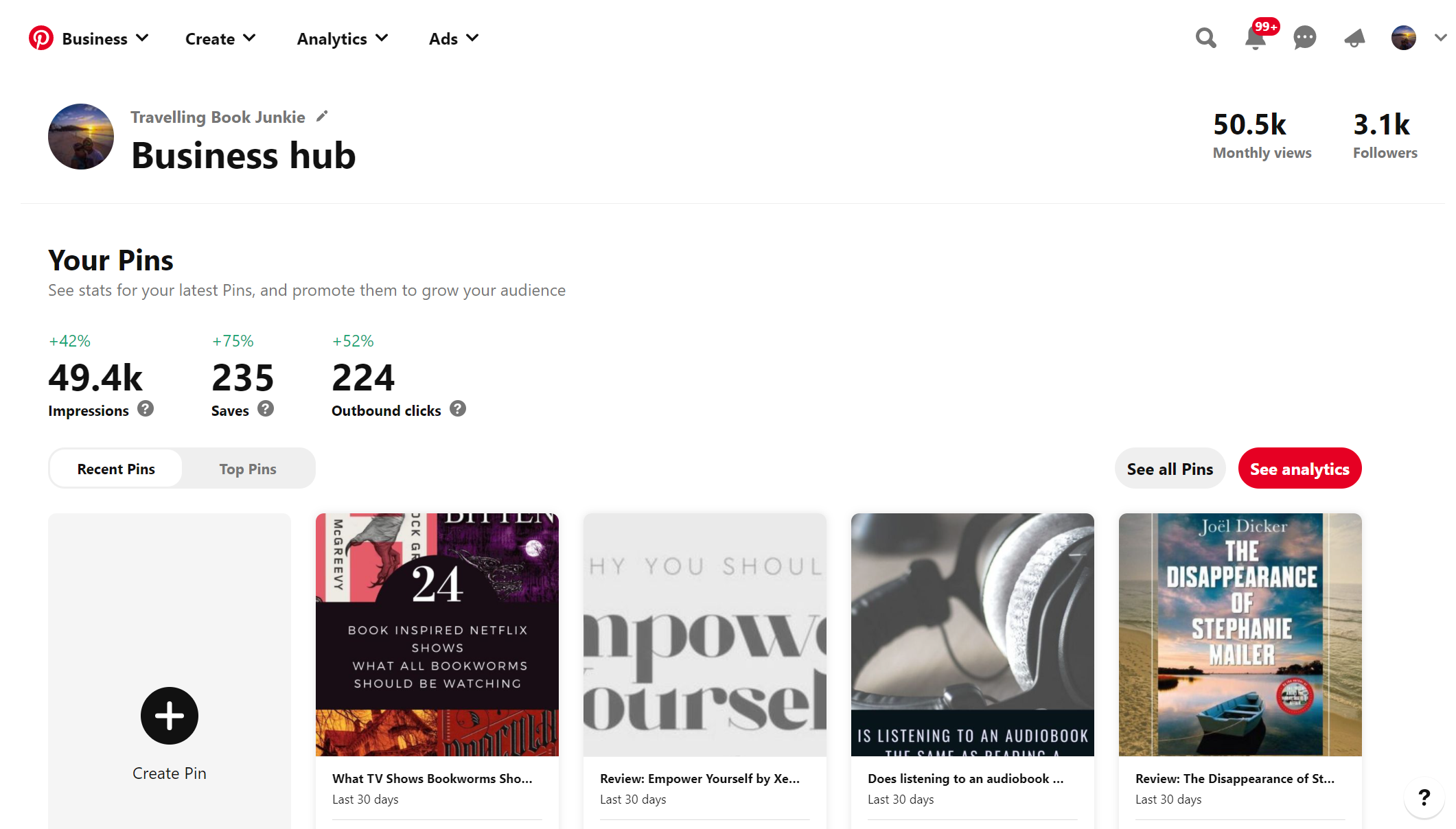 Pinterest Business Hub is a great way to find out details of your audience and what they like.
