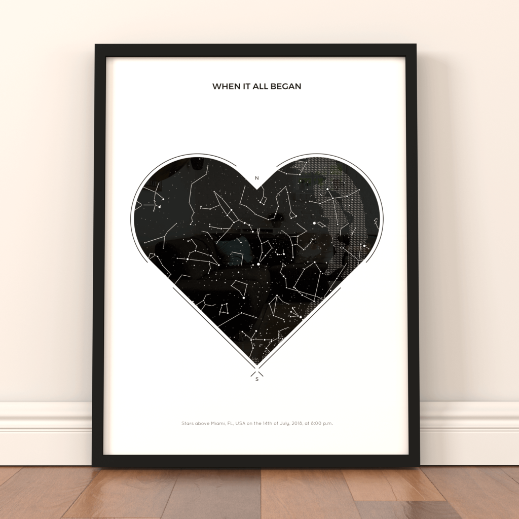 Star maps can  be produced for any date that is special to you