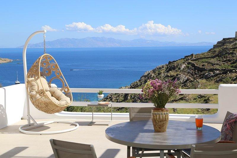 Villa Wisteria in Mykonos has some stunning views