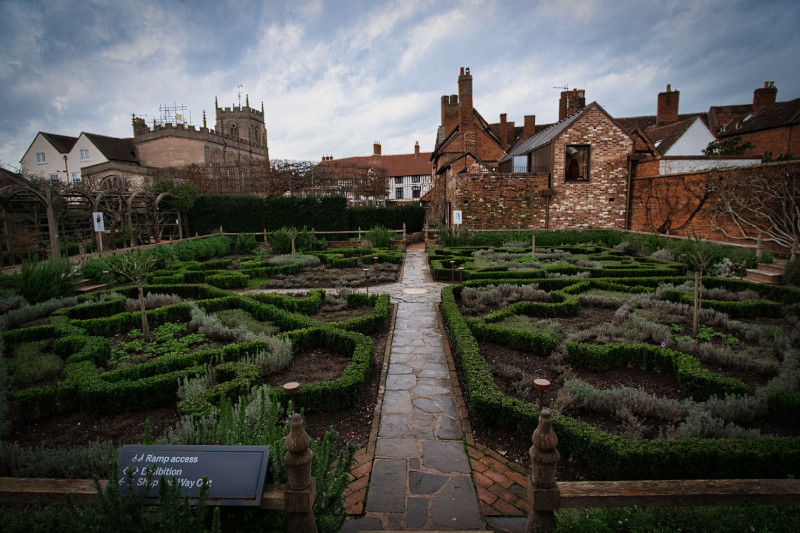 The gardens of Shakespeare's new place