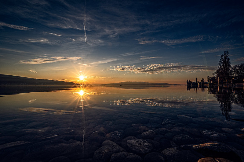 Sunset on Lake Constance in Germany