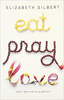 Eat pray love by Elizabeth Gilbert see her travelling around the world while she tries to rediscover herself