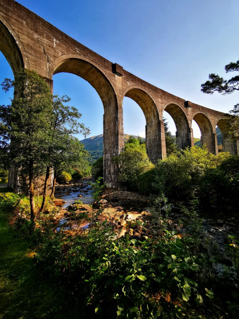 Glenfinnan Viaduct up close used in the Harry Potter movies