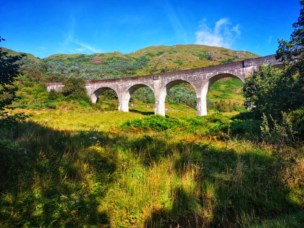 Glennfinnan Viaduct, an iconic image from all of the Harry Potter Movies
